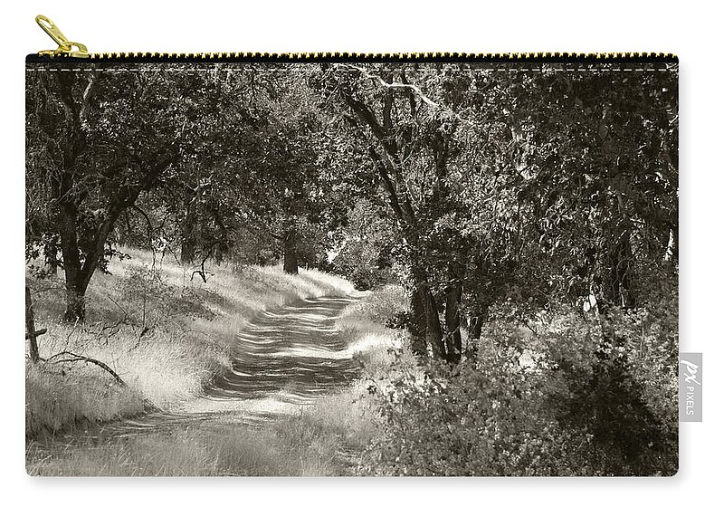 Country Carry-all Pouch featuring the photograph The Wooded Path by Kathleen Grace