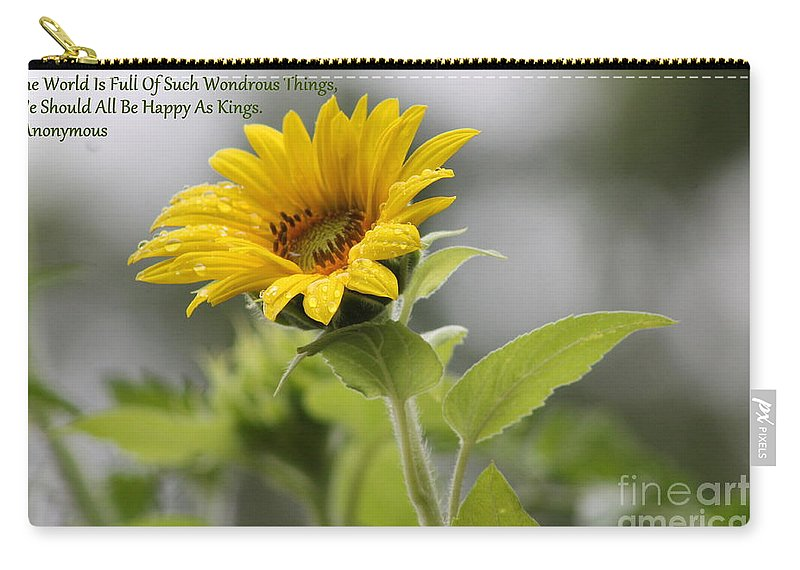 Sunflower Carry-all Pouch featuring the photograph The World Is Full by Leone Lund