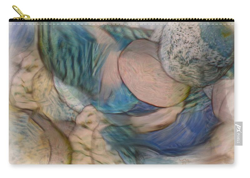World Carry-all Pouch featuring the mixed media The World On My Shoulders by Trish Tritz