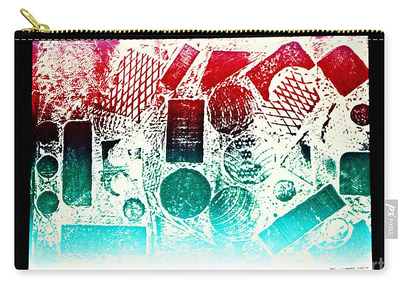 Print Making Abstract Carry-all Pouch featuring the relief The World by Yael VanGruber