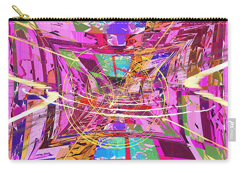 Abstract Carry-all Pouch featuring the digital art The Writing On The Wall 17 by Tim Allen