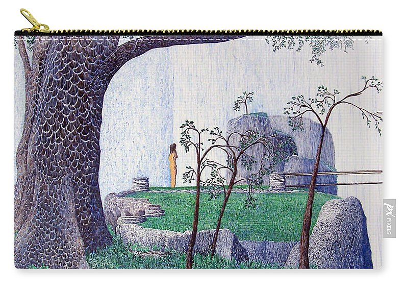 Landscape Carry-all Pouch featuring the painting The Yearning Tree by A Robert Malcom