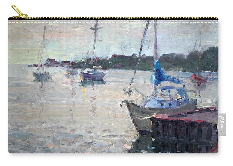 Youngstown Yachts Carry-all Pouch featuring the painting The Youngstown Yachts by Ylli Haruni