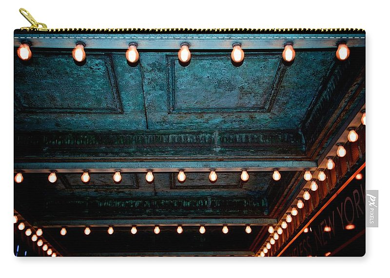Theatre Lights Carry-all Pouch featuring the photograph Theatre Lights by Eric Tressler