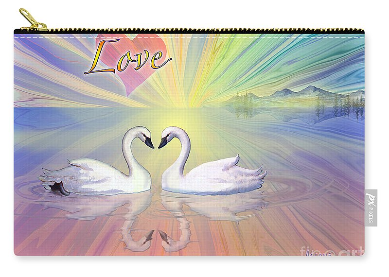 Themes Of The Heart-love Carry-all Pouch featuring the painting Themes Of The Heart-love by Teresa Ascone