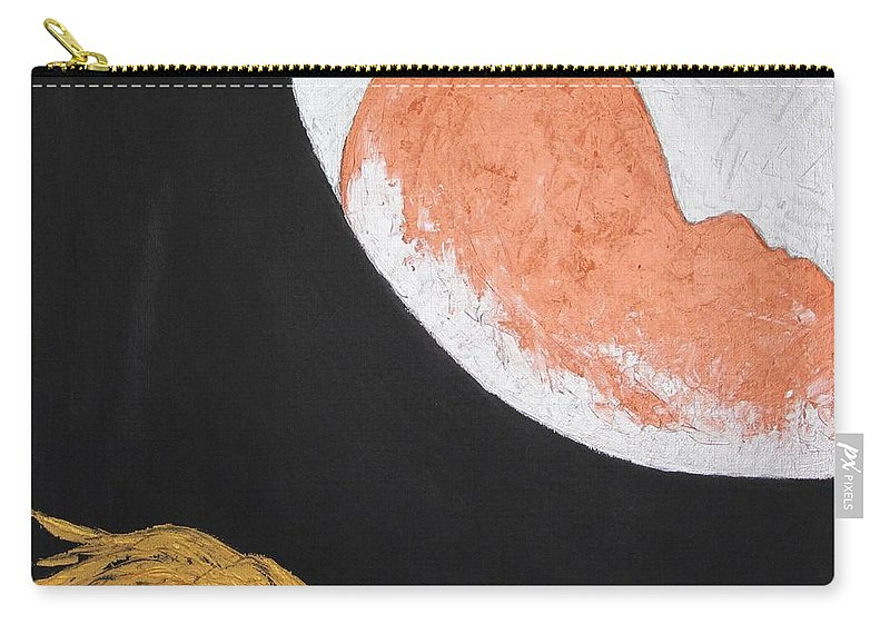Surreal Carry-all Pouch featuring the painting ..then The Moon Come To Kiss Good Bye... by Marianna Mills