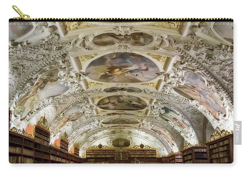 Joan Carroll Carry-all Pouch featuring the photograph Theological Hall Strahov Monastery by Joan Carroll