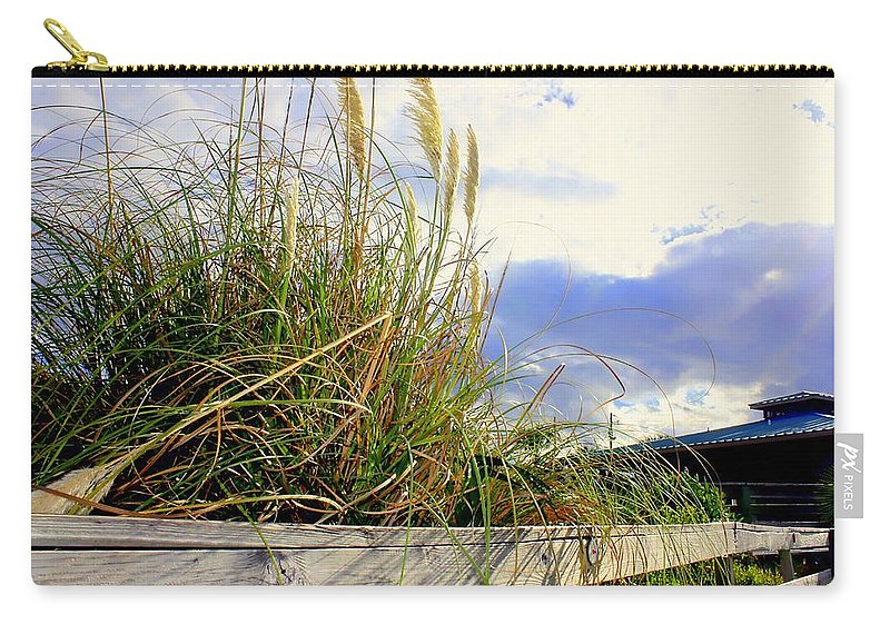 Sea Oates Carry-all Pouch featuring the photograph Therapeutic View by Debra Forand