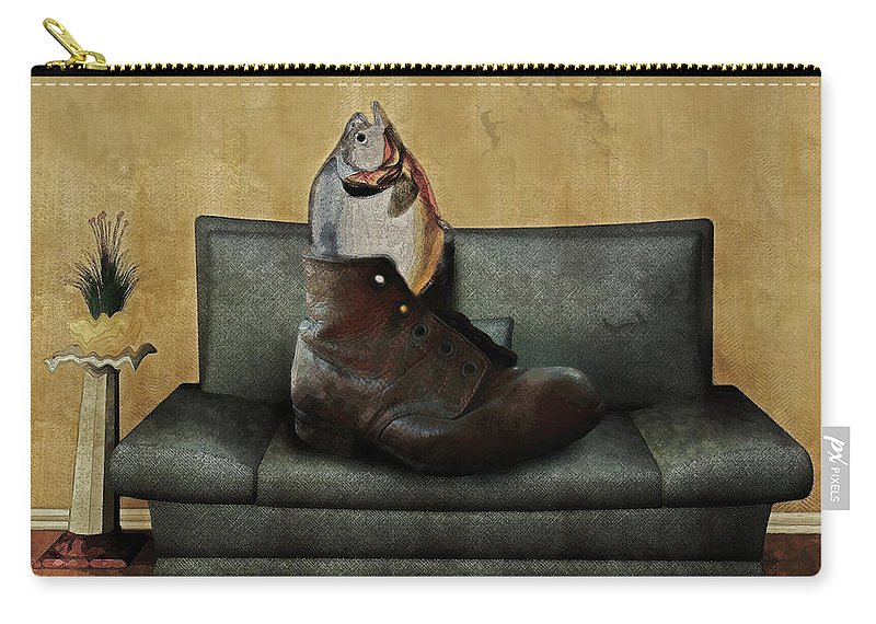 Sofa Carry-all Pouch featuring the digital art Therapy by Galen Valle