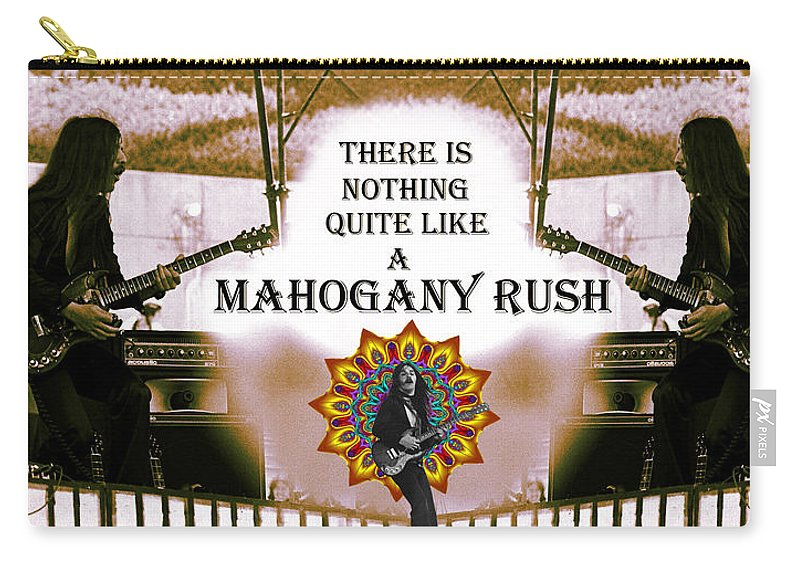 Mahogany Rush Carry-all Pouch featuring the photograph There Is Nothing Quite Like A Mahogany Rush by Ben Upham