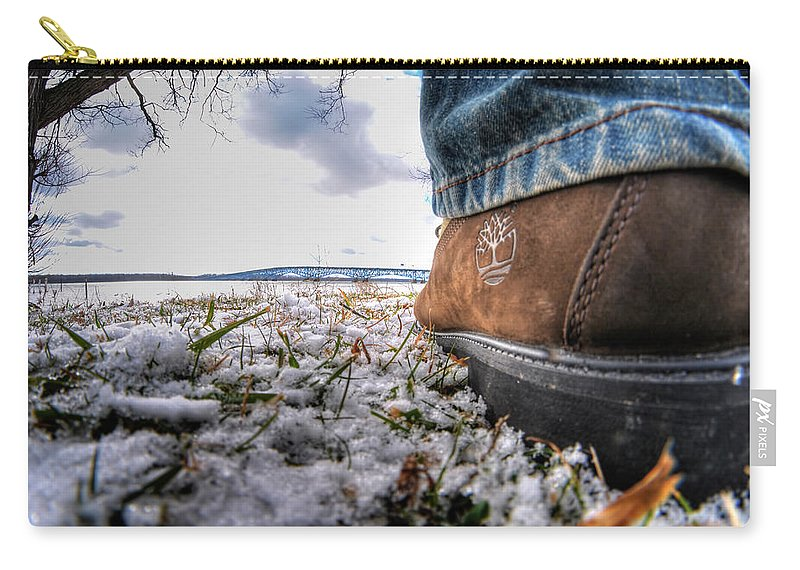 Carry-all Pouch featuring the photograph These Boots Were Made For... by Michael Frank Jr