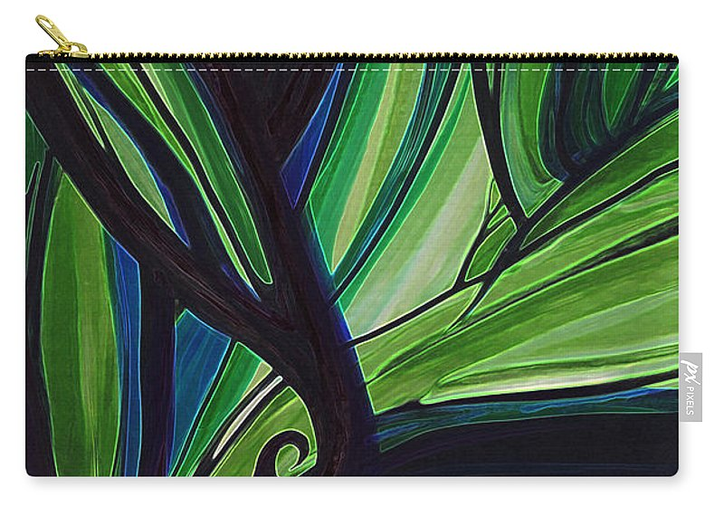 First Star Art Carry-all Pouch featuring the mixed media Thicket by First Star Art