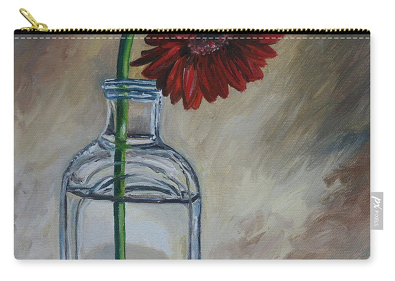 Gerbera Daisies Carry-all Pouch featuring the painting Thinking Of You by Julie Brugh Riffey