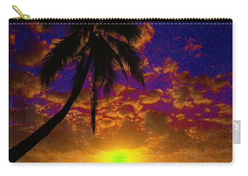 Digital Art Landscape Carry-all Pouch featuring the digital art Thinking Of You by Yael VanGruber