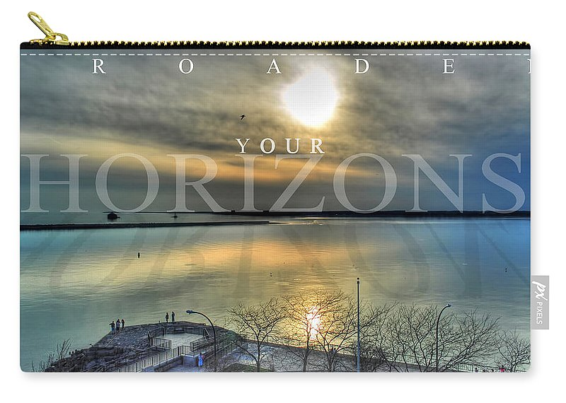 Optimism Carry-all Pouch featuring the photograph Thinking Outside The Box by Michael Frank Jr