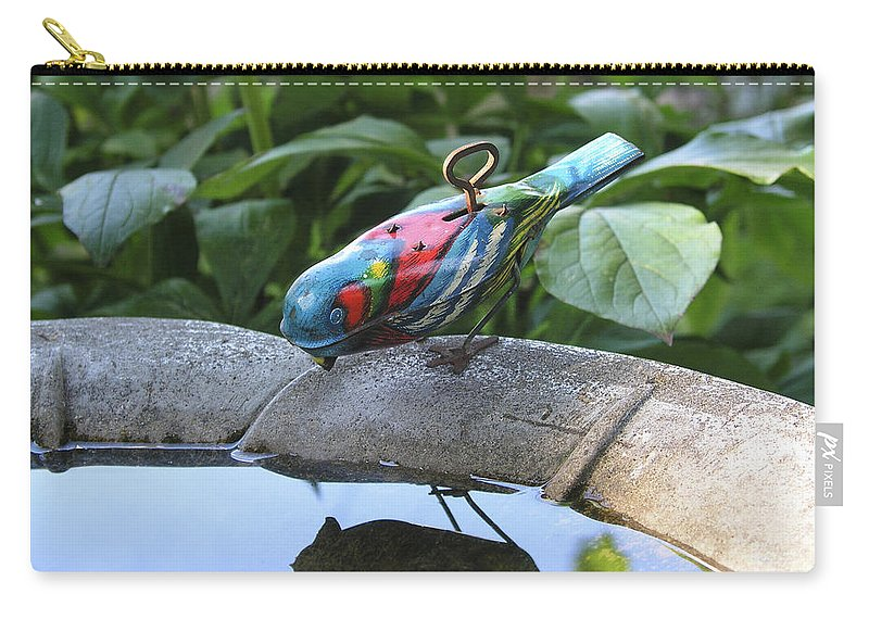 Funny Carry-all Pouch featuring the photograph Thirsty Bird by Dean Pratali