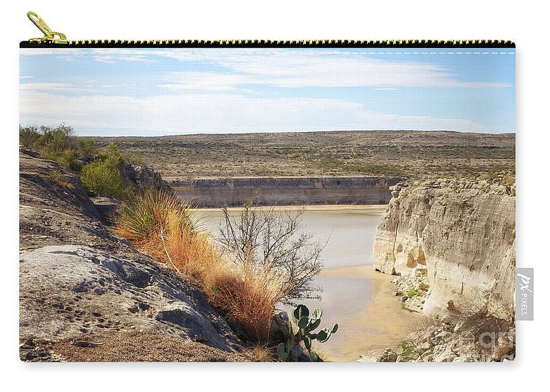 Rio Grande Carry-all Pouch featuring the photograph Thirsty Rio Grande by Erika Weber