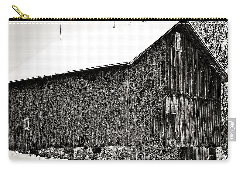 Old Barn Carry-all Pouch featuring the photograph This Old Barn by Sennie Pierson