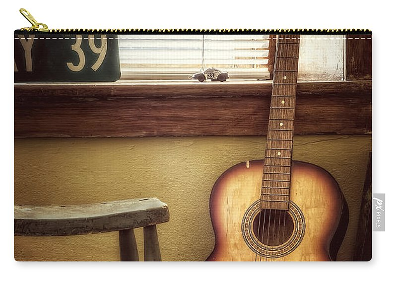 Guitar Carry-all Pouch featuring the photograph This Old Guitar by Scott Norris