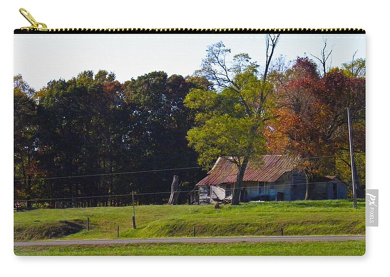 Trees Carry-all Pouch featuring the photograph This Old House by Nick Kirby
