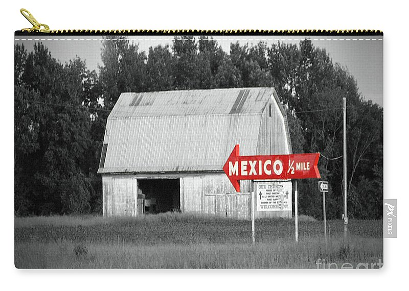 Mexico Carry-all Pouch featuring the photograph This Way To Mexico by Jost Houk