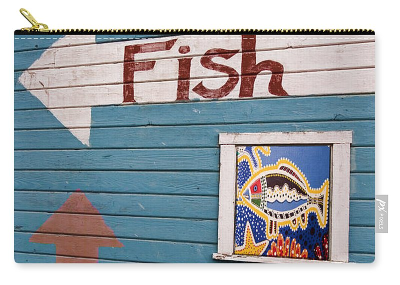 Fish Carry-all Pouch featuring the photograph This Way To The Fish by Carol Leigh