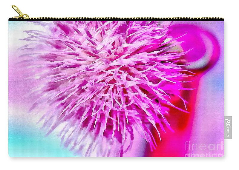Thistle Carry-all Pouch featuring the photograph Thistle Beauty by Krissy Katsimbras