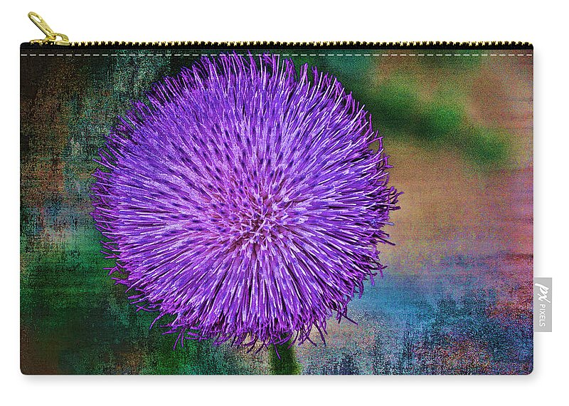 Thistle Carry-all Pouch featuring the photograph Thistle by Charles Muhle