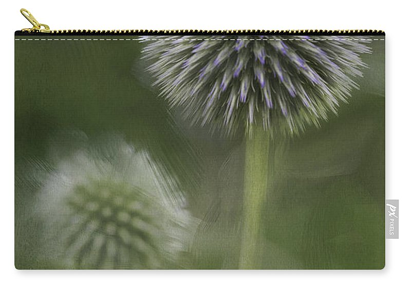 Flower Carry-all Pouch featuring the photograph Thistle by Fran Gallogly