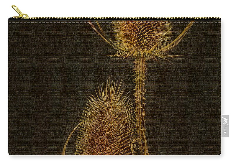 Thisle Carry-all Pouch featuring the photograph Thistles by Hanny Heim