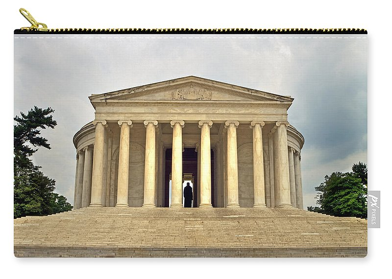 Jefferson Carry-all Pouch featuring the photograph Thomas Jefferson Memorial by Jerry Gammon