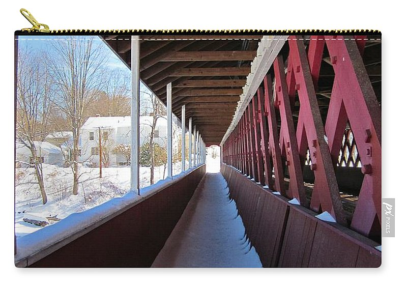 Thompson Bridge Carry-all Pouch featuring the photograph Thompson Foot Bridge by MTBobbins Photography