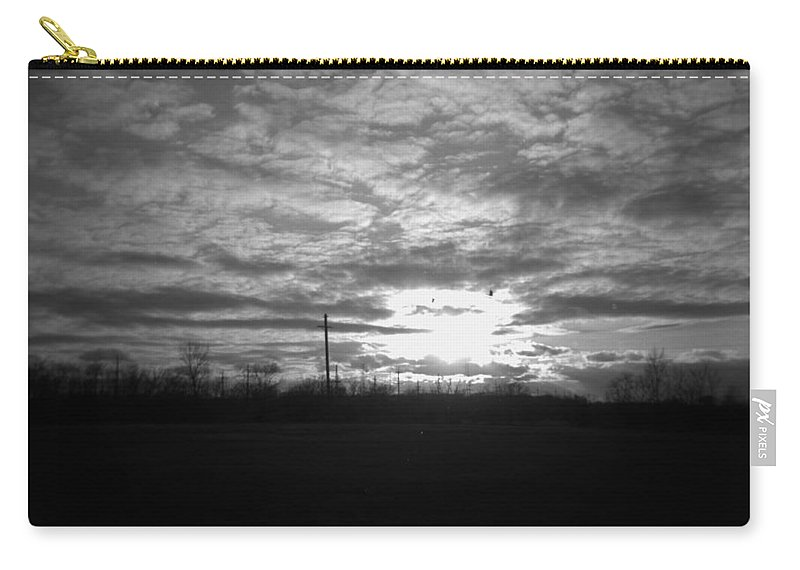 Thornton Carry-all Pouch featuring the photograph Thornton Sunset With A Holga by Verana Stark