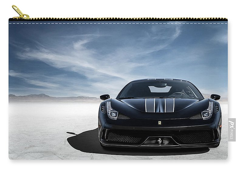 Ferrari Carry-all Pouch featuring the digital art Thoroughbred by Douglas Pittman