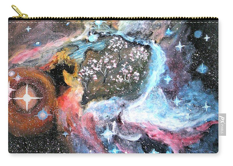 Augusta Stylianou Carry-all Pouch featuring the painting Thor's Helmet Nebula by Augusta Stylianou