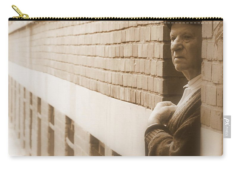 Street Carry-all Pouch featuring the photograph Thoughts by Valentino Visentini
