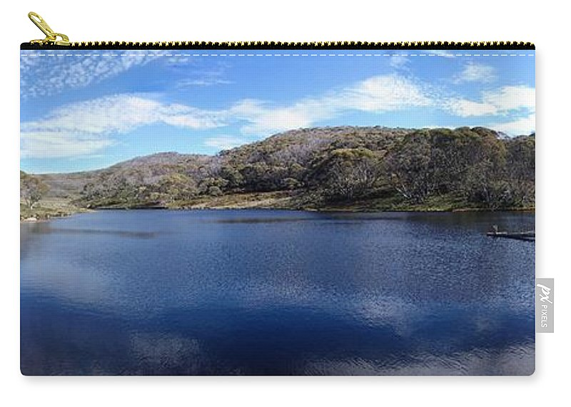Threadbo Carry-all Pouch featuring the photograph Threadbo Lake Panorama - Australia by Ian Mcadie