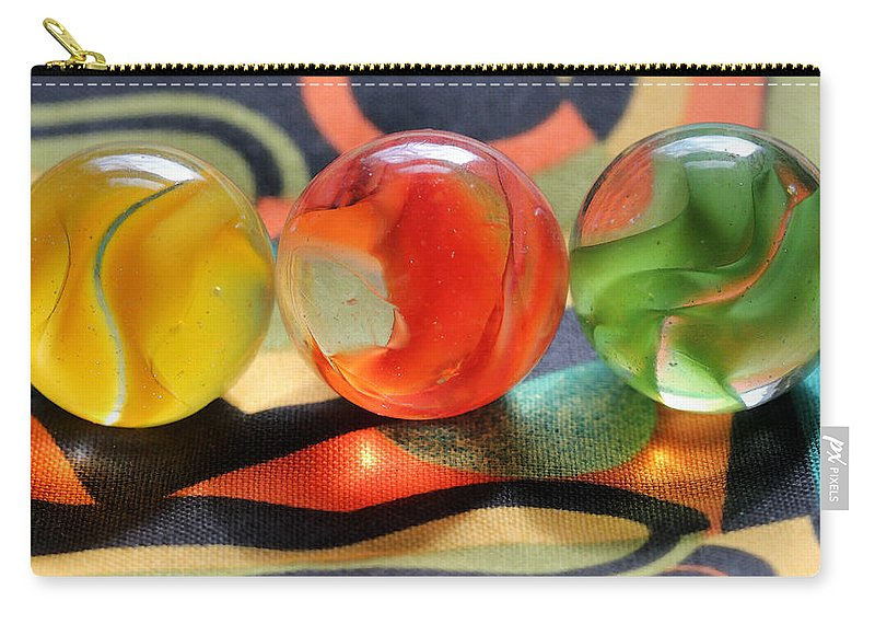 Marble Carry-all Pouch featuring the photograph Three Amigos by Mary Bedy