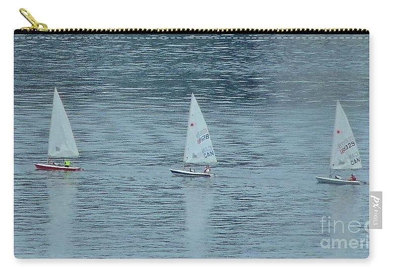 Schooners Carry-all Pouch featuring the photograph Three In A Row by John Malone