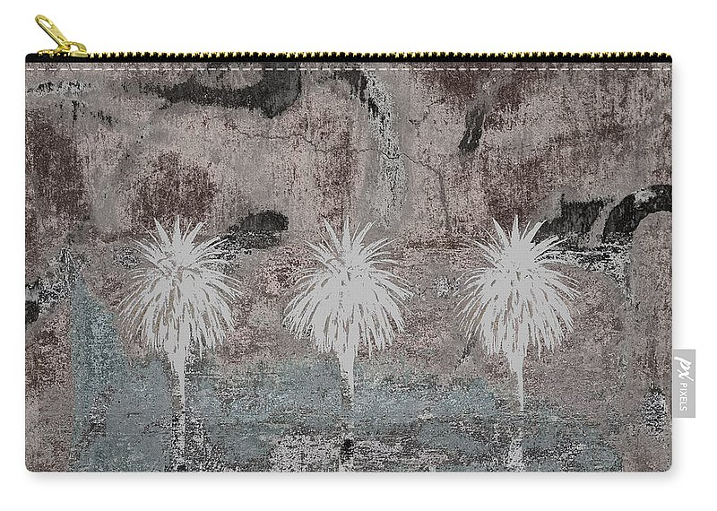 Oasis Carry-all Pouch featuring the photograph Three Palms Oasis by Carol Leigh