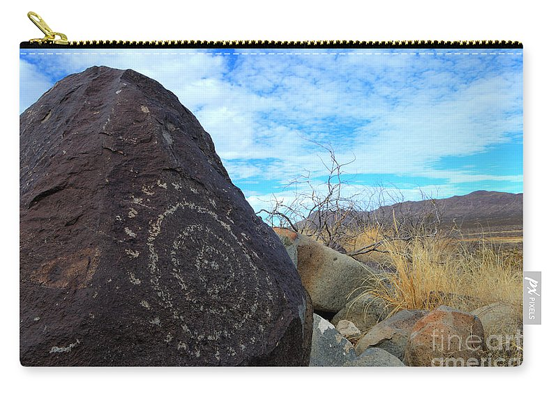 Three Rivers Carry-all Pouch featuring the photograph Three Rivers Petroglyphs 5 by Bob Christopher
