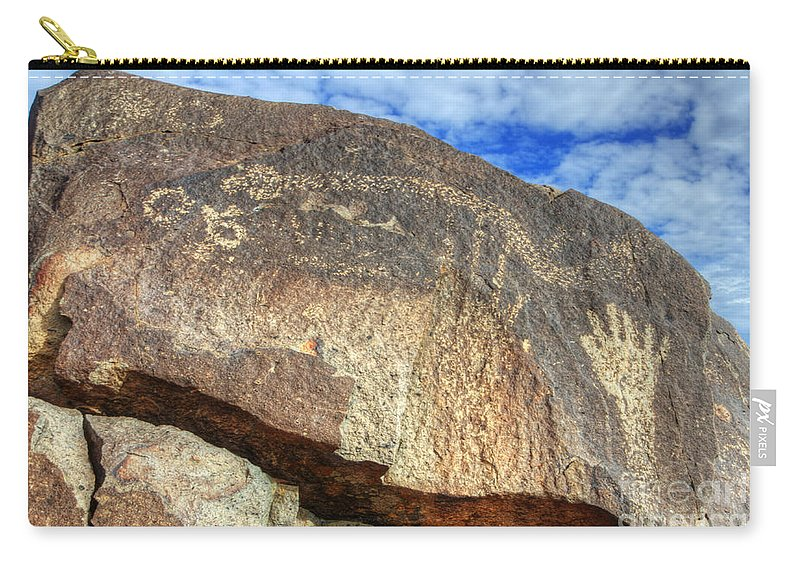 Three Rivers Carry-all Pouch featuring the photograph Three Rivers Petroglyphs 6 by Bob Christopher