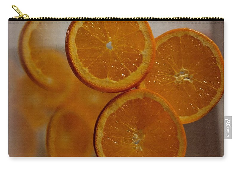 Oranges Carry-all Pouch featuring the photograph Three To Infinity by Sharon Elliott