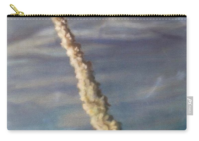 Rocket Carry-all Pouch featuring the painting Throttle Up by Sean Connolly
