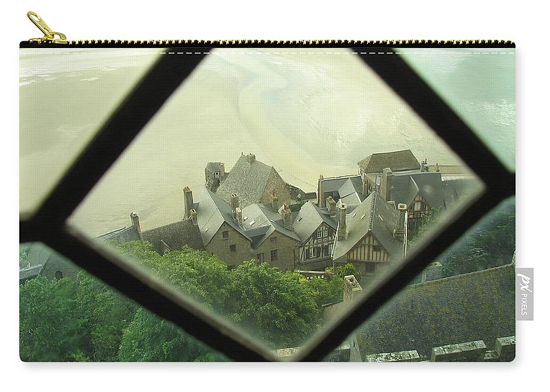 Le Mont St-michel Carry-all Pouch featuring the photograph Through A Window To The Past by Mary Ellen Mueller Legault