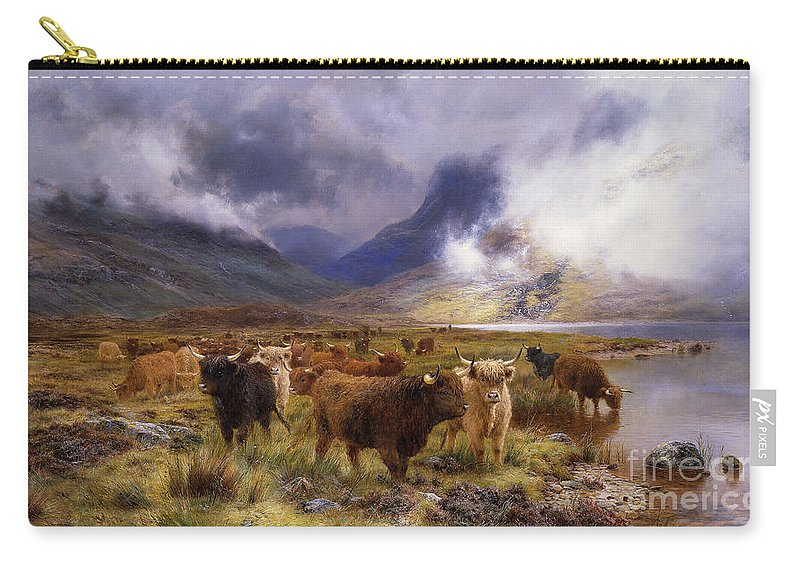 1890s Carry-all Pouch featuring the painting Through Glencoe By Way To The Tay by Louis Bosworth Hurt