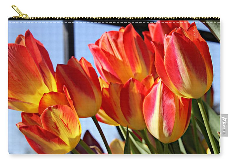 Flower Carry-all Pouch featuring the photograph Through The Fence by Tina Meador