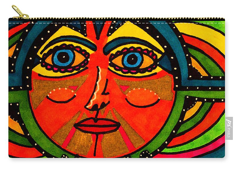 Sun Carry-all Pouch featuring the drawing Through The Prism Of The Sun by Marie Jamieson