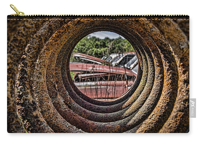 Through The Spring Carry-all Pouch featuring the photograph Through The Spring by Dale Kincaid