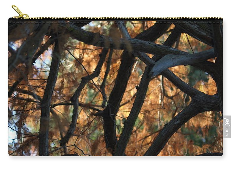 Orange Carry-all Pouch featuring the photograph Through The Trees 2 by Jacklyn Duryea Fraizer